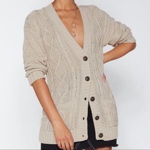 Nasty gal cardigan